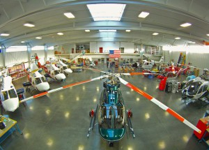 Our new hangar has over 28,500 sq. ft. of floor space.